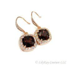 Burgundy Bridesmaid Earring Marsala Bridesmaid by LilykayCouture