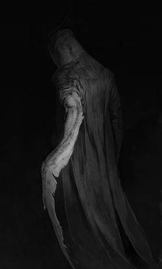 Journalist by Olya Bossak on ArtStation. Creature Feature, Creature Design, Dark Fantasy, Fantasy Art, Satan, Near Dark, Monster Pictures, Alien Life Forms, Gothic Culture