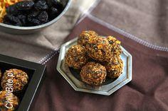 ChilliBite.pl - motywuje do gotowania!: Trufelki kukurydziane ze śliwką kalifornijską Energy Bars, Pretzels, Popcorn, Muffin, Breakfast, Food, Morning Coffee, Essen, Muffins