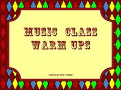 Music Class Warm Up Activities  I could and should make these for 3rd and 4th grade to keep those rhythms and concepts fresh!