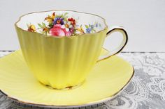 Foley Tea Cup and Saucer from  Tanglewood Tea Shop