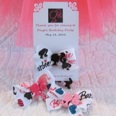 Barbie Birthday Party Favors Set of Six by Sootysdressupfriends, $24.00