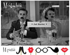 MOSTACHOS Wedding ideas / Ideas para bodas wedding props Photo Booth Moustaches / Glasses / Lips www.globosdeluz.com
