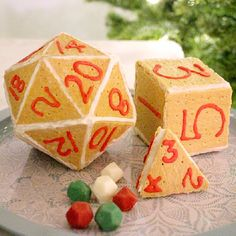 One for the gamers! Geek up your holidays with a D20 gingerbread house.