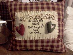 Hand made primitive pillow I made.
