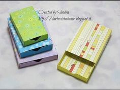 Scatole scrap/Matchbox tutorial con Envelope punch board - Lartevistadame