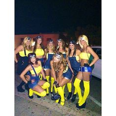 50 girl group Halloween costumes- MINIONS