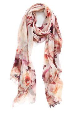 Floral digital print scarf at Nordstrom. Timeless but modern.