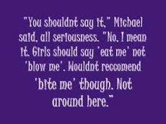 Quote from the Morganville Vampires books