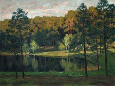 Walter Leistikow (German, 1865-1908) - Märkische Landschaft [Brandenburg landscape], c.1897