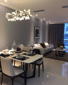 The Classiest Minimalist Dining Room Trends Banyo Classy Living Room, Living Room Grey, Living Room Interior, Home Living Room, Home Interior Design, Cozy Living, Modern Living, Small Condo Living, Living Dining Combo