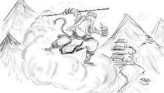 Image result for sun wukong drawings