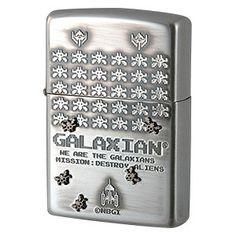 Premium Japanese Vintage Zippo Lighter JAPAN NAMCO ARCADE GAME 30th ANNIVERSARY GALAXIAN
