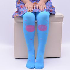High Quality Baby Girl's Stockings Tight Solid Cute Cartoon Cat 80D Fashion Children Girls Kids Tights Pantyhose 10 Colors DQ008