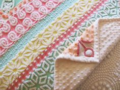 handmade pastel chenille quilt CANDY by moreChenilleChateau, $945.00 this lady has so much talent