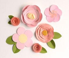 Learn how to make 5 versions of easy paper flowers with circle punches with these fast and fun photo tutorials on the Craftsy Blog.