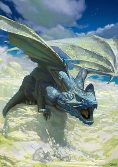 ~You stare at the dragon whom is roaring trying to scare you off. But you just stand there looking at it. You pull out a sword knowing that every dragon had to be slayed~ ~Fantasy-Dreams~ Dragon Medieval, Design Dragon, Cool Dragons, Dragon Artwork, Dragon Pictures, Art Pictures, Fantasy Monster, Blue Dragon, Creature Concept