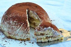 Zuccotto al tiramisu Italian Cake, Italian Desserts, Italian Dishes, Just Desserts, Italian Recipes, Delicious Desserts, Sweets Recipes, Cake Recipes, Cooking Recipes