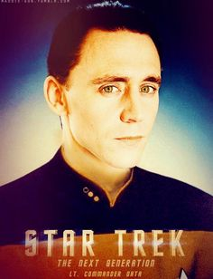 This pic of Hiddleston as Lt. Commander Data is AWESOME