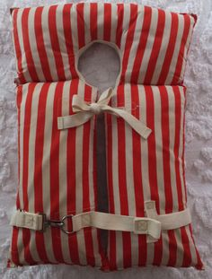 Vintage Crawford Red White Stripe Adult by CindysCozyClutter #childhoodmemories