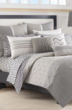 Nautica 'Margate' Cotton Coverlet available at White King Size Coverlet King Duvet Set, Twin Comforter Sets, Duvet Sets, Cozy Bedroom, Master Bedroom, Bedroom Decor, Bedroom Sets, Decoration Gris, My New Room