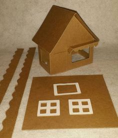 Little Village Cardboard Christmas Putz by littlevillagehouses