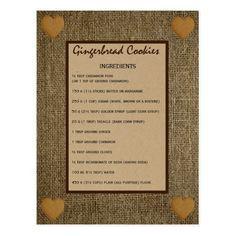Gingerbread cookies recipe - Pepparkaka Postcard