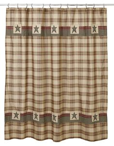 Details About Plymouth Patchwork Shower Curtain By Olivias Heartland  Burgundy Black Tan Green
