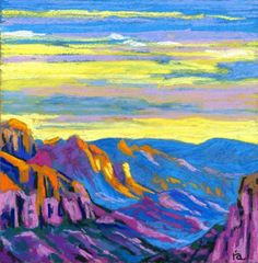 grand canyon oil pastel landscapes - Google Search