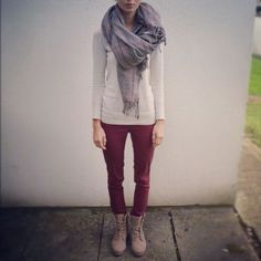 Cute, but with a less bulky scarf.