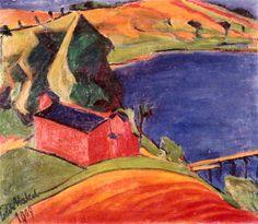 Erich Heckel, Lake near Moritzburg, 1909