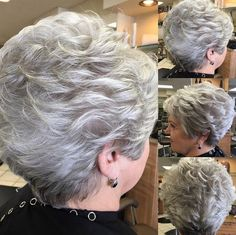 Beautiful natural color - Short Haircut Ideas for Women Over 50, 60