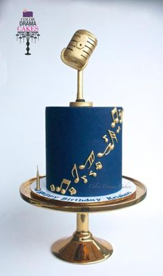 Music themed cake - cake by Color Drama Cakes theme Music themed cake Music Birthday Cakes, Music Themed Cakes, Music Cakes, Music Themed Parties, Birthday Cakes For Men, Bolo Musical, Cake Design For Men, Simple Cake Designs, Colors Drama
