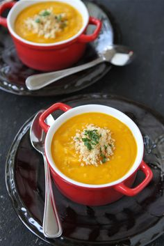 Roasted Sweet Potato Soup with Quinoa Recipe (Dairy-Free) by CookinCanuck