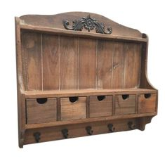 Rustic Country Villa Storage Unit Drawers & Hooks Distressed Wood – Home of Temptations Interior Design Furniture, Decor & Gifts Design Furniture, Furniture Decor, Rustic Wood, Distressed Wood, Leather Furniture, How To Distress Wood, Wooden Walls, House In The Woods, Shabby Chic Furniture
