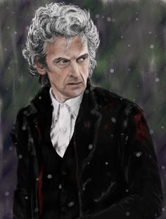 Peter Capaldi miniature by whu-wei on DeviantArt Doctor Who Art, 12th Doctor, Twelfth Doctor, Jason Grace, Romantic Pictures, Peter Capaldi, Captain Swan, Time Lords, Disney Fan Art
