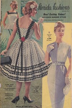 Vintage 1950's Catalog Florida Fashions