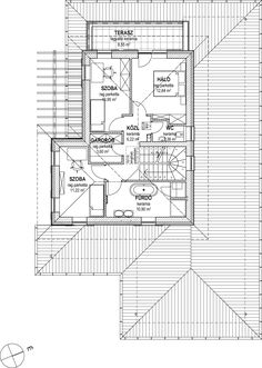 Emeletes családi ház 201 m2 Tuscan House, House Plans, Projects To Try, Floor Plans, House Design, How To Plan, Architecture, Building Homes, Landscape