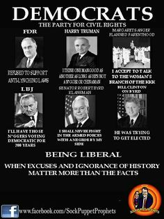 Dems: Founders of the KKK, Proponents of Segregation, Slaves, Lynching, Abortion. Liberal Logic, Political Quotes, Conservative Politics, Screwed Up, Teaching, How To Plan, Education, Words, Humor