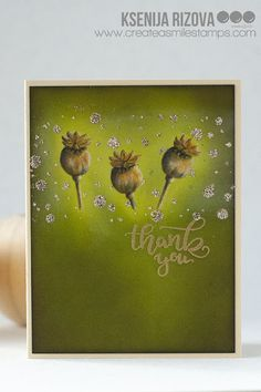 Tips on ink blending for a beaming effect. This card is made with Create A Smile Pure Poppies stamps Card Making Tutorials, Ink Stamps, Clear Stamps, Colouring, Handmade Cards, Poppies, Stamping, Card Stock, Smile