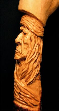 Indians wood carving