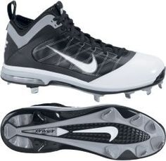 59b90c86f262a8 Click Image Above To Buy  Nike Air Max Diamond Elite Blk wht wht Mid Metal  Baseball Cleat