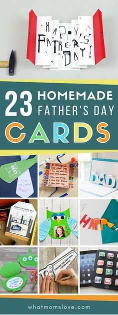 Easy DIY Fathers Day Cards for Dad or Grandpa | Charming and funny homemade card ideas for kids to make - includes free printables and simple handmade projects. Perfect to give from daughter or son! #fathersday #giftsfordad #giftidea #fathersdaycrafts