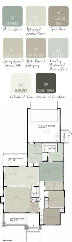 Its easy to create a floor plan layout of paint colors for your