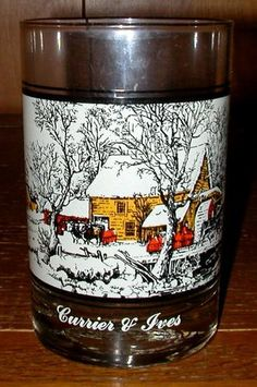Currier and Ives - Frozen Up - Arby's 1978 Collector's Glass | eBay