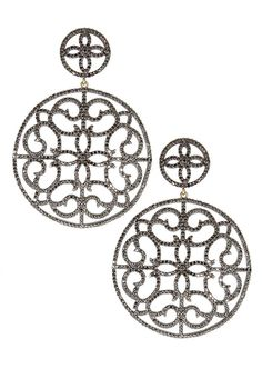 CATHERINE ANGIEL BLACK GOLD AND BLACK DIAMONDS EARRINGS