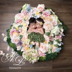 spring flower girl twins by #artbylaw newborn photography