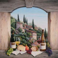barbara felisky still life in the italian hills oil-paintings