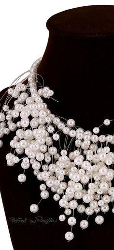 Regilla ⚜ Pearls Beads Choker Collar Statement Necklace