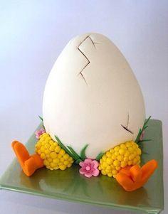 Cake Wrecks - Easter By Yummy-Mummy Cake Creations Cupcake Easter, Easter Egg Cake, Easter Cookies, Easter Treats, Easter Cake Fondant, Bolo Halloween, Desserts Ostern, Spring Cake, Cake Wrecks